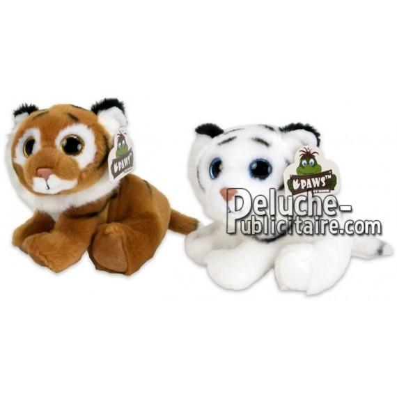 Achat peluche tigre marron 15cm. Peluche personnalisée.