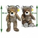 Achat peluche tigre marron 90cm. Peluche personnalisée.