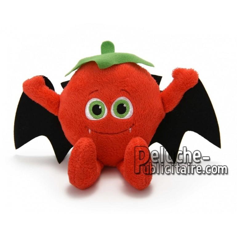 Achat peluche dracula tomate rouge 10cm. Peluche personnalisée.