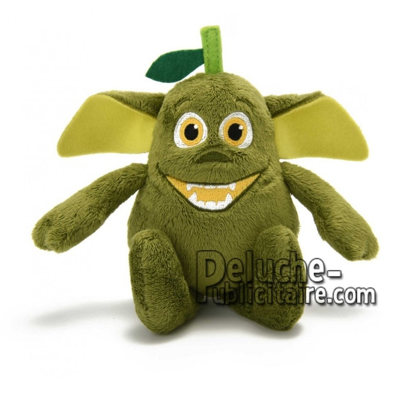 Achat peluche gremlin poire vert 10cm. Peluche personnalisée.