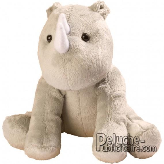 Purchase Rhinoceros Plush 15 cm.Plush to customize.