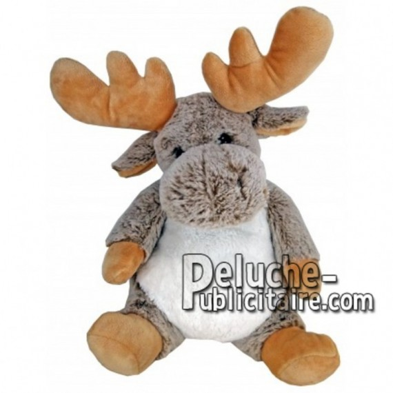 Buy Grey reindeer moose plush 30cm. Personalized Plush Toy.