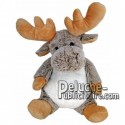 Buy Grey reindeer moose plush 30cm. Personalized Plush Toy.