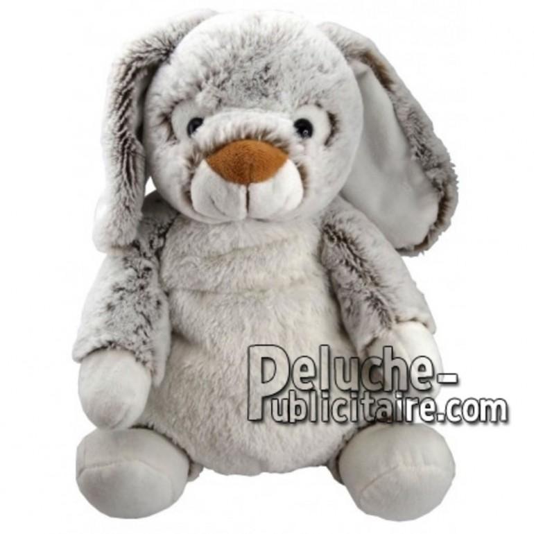 Achat peluche lapin gris 18cm. Peluche personnalisée.
