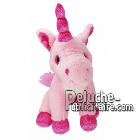 Achat peluche licorne rose 18cm. Peluche personnalisée.