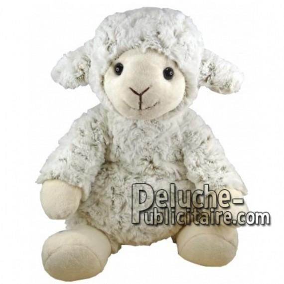Achat peluche mouton blanc 30cm. Peluche personnalisée.