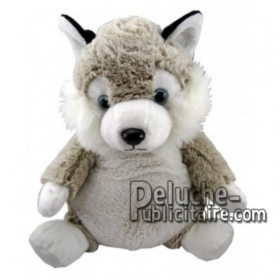 Achat peluche chien husky blanc 18cm. Peluche personnalisée.