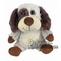 Achat peluche chien beige 18cm. Peluche personnalisée.