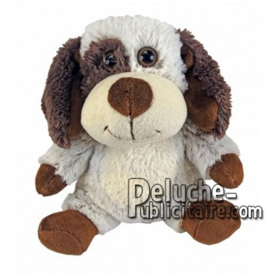 Achat peluche chien beige 30cm. Peluche personnalisée.
