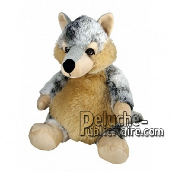 Achat peluche loup marron 18cm. Peluche personnalisée.
