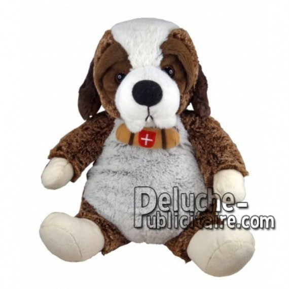 Buy Brown st bernard dog plush 30cm. Personalized Plush Toy.