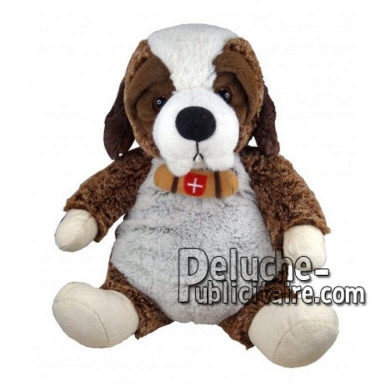 Buy Brown st bernard dog plush 30cm. Personalized Plush Toy.