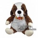 Achat peluche chien st bernard marron 30cm. Peluche personnalisée.