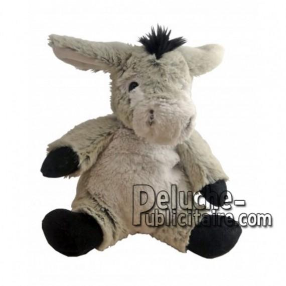 Achat peluche âne gris 18cm. Peluche personnalisée.