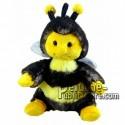 Achat peluche abeille noir 18cm. Peluche personnalisée.