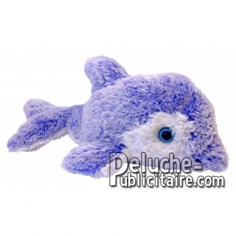 Achat peluche dauphin bleu 20cm. Peluche personnalisée.