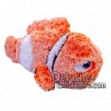 Achat peluche poisson clown orange cm. Peluche personnalisée.