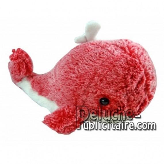 Achat peluche baleine rouge cm. Peluche personnalisée.