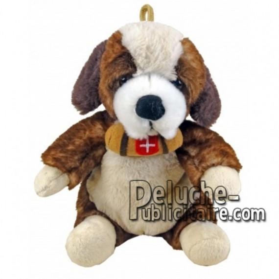 Achat peluche chien st bernard marron 18cm. Peluche personnalisée.