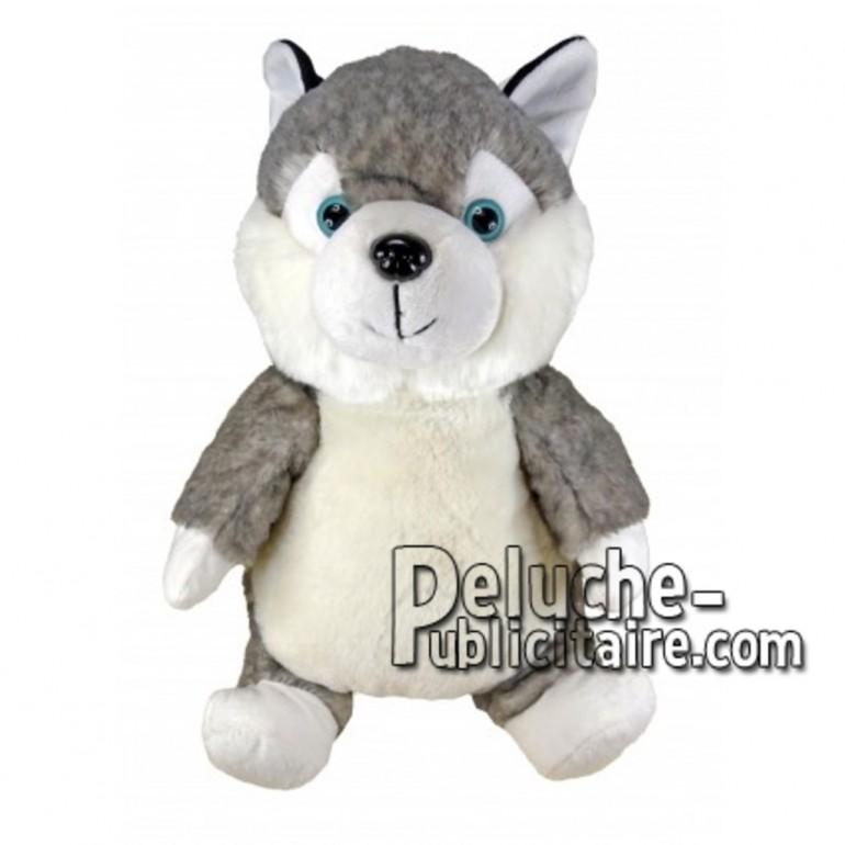 Buy Grey husky dog plush 30cm. Personalized Plush Toy.