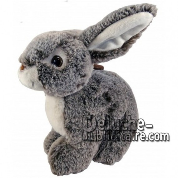 Buy Grey sitting rabbit plush 30cm. Personalized Plush Toy.