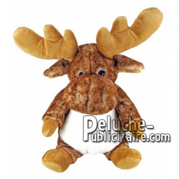 Buy Brown reindeer moose plush 30cm. Personalized Plush Toy.