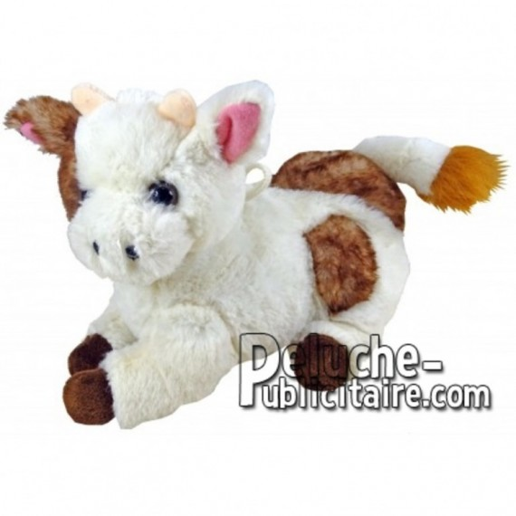 Buy White lying cow plush 18cm. Personalized Plush Toy.