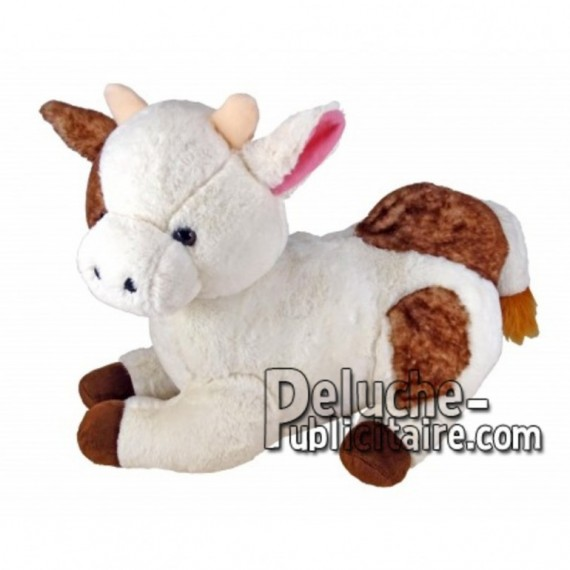Buy White lying cow plush 30cm. Personalized Plush Toy.
