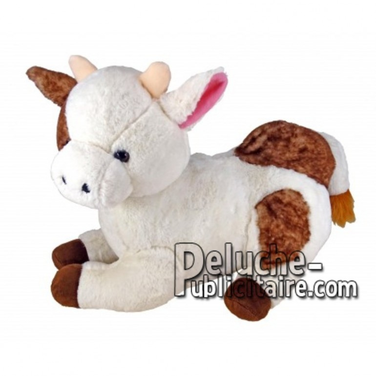 Buy White lying cow plush 30cm. Personalized Plush Toy.