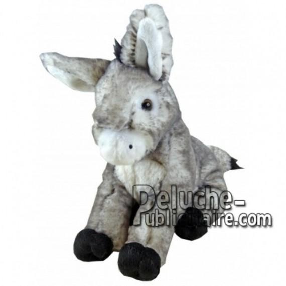 Achat peluche âne assis gris 18cm. Peluche personnalisée.
