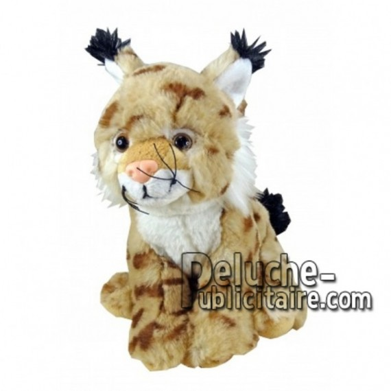 Achat peluche lynx jaune 30cm. Peluche personnalisée.