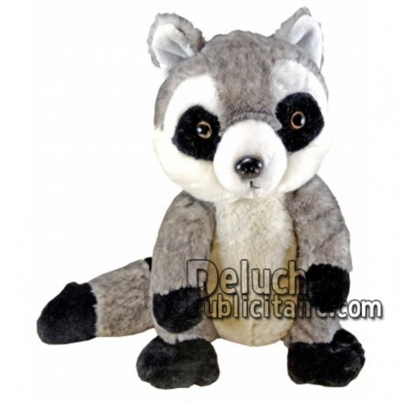 Buy Grey raccoon plush 30cm. Personalized Plush Toy.