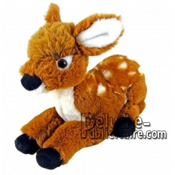 Achat peluche faon (bambi) orange 30cm. Peluche personnalisée.