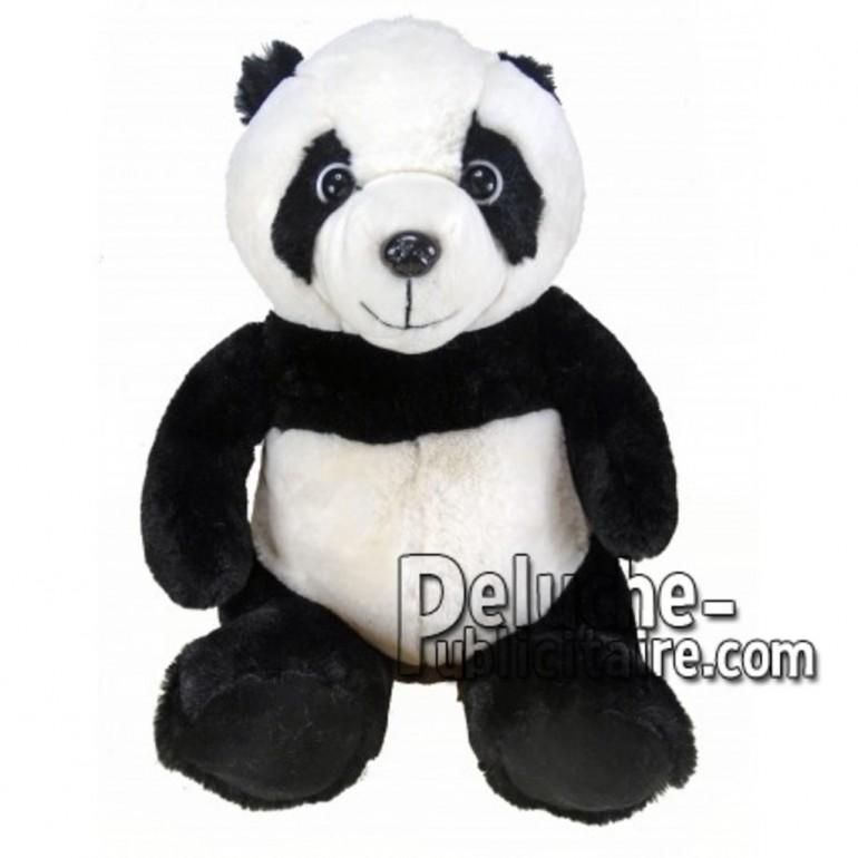 Achat peluche panda noir 18cm. Peluche personnalisée.