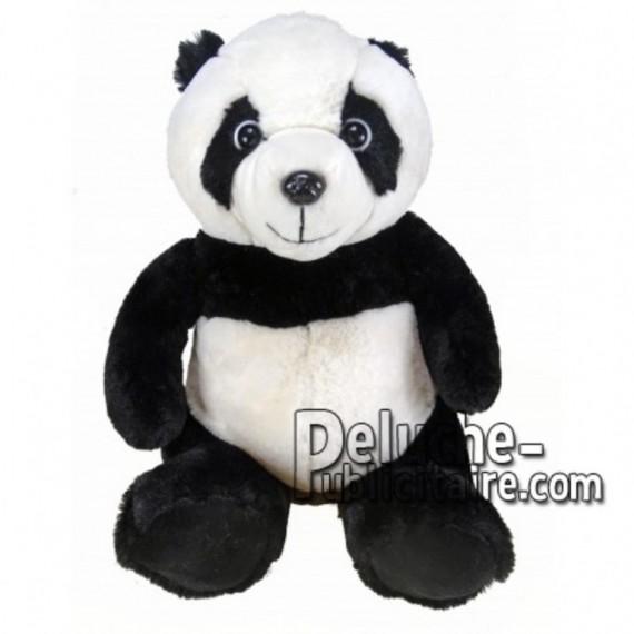Achat peluche panda noir 30cm. Peluche personnalisée.