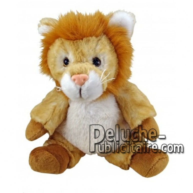Achat peluche lion marron 18cm. Peluche personnalisée.