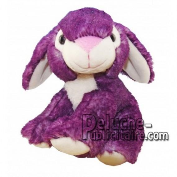 Achat peluche lapin violet 18cm. Peluche personnalisée.