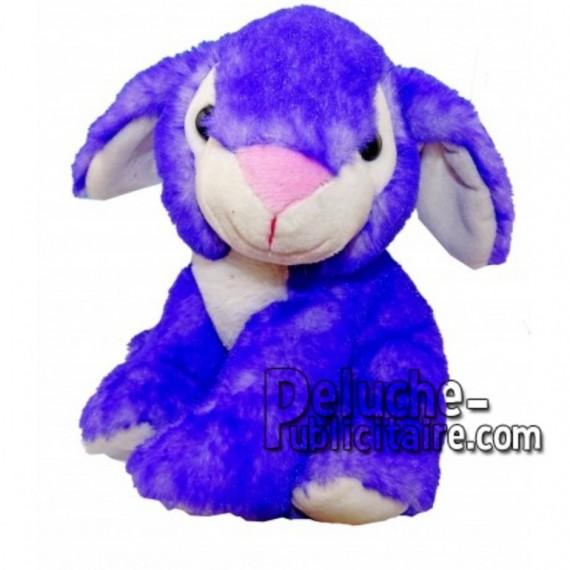 Achat peluche lapin bleu 18cm. Peluche personnalisée.