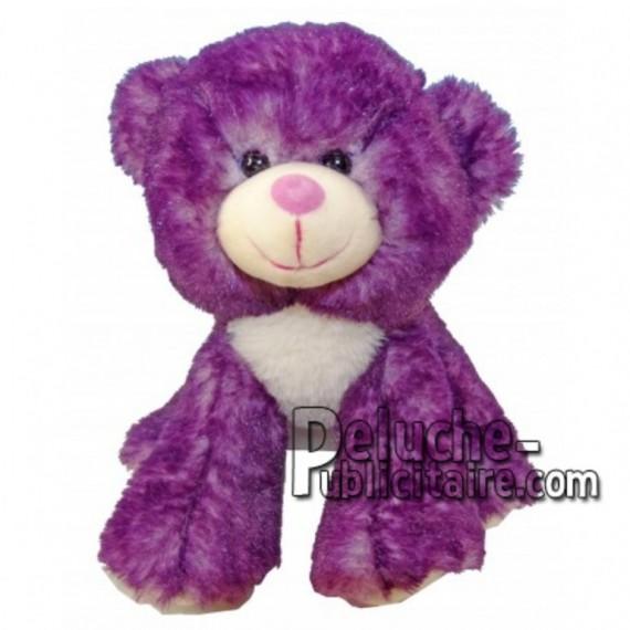 Achat peluche ours violet 18cm. Peluche personnalisée.