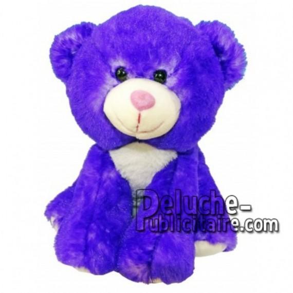 Achat peluche ours bleu 18cm. Peluche personnalisée.