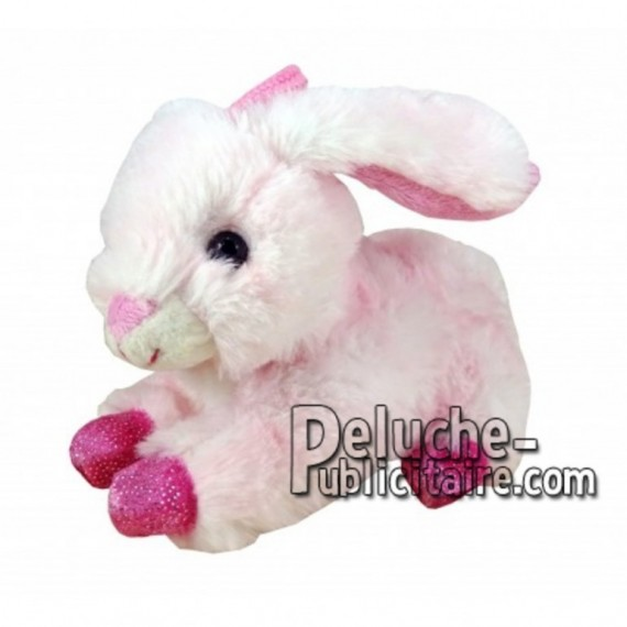 Buy pink lying rabbit plush 12cm. Personalized Plush Toy.