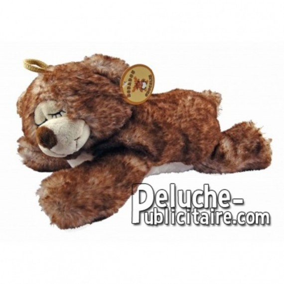 Buy Brown lying bear plush 30cm. Personalized Plush Toy.