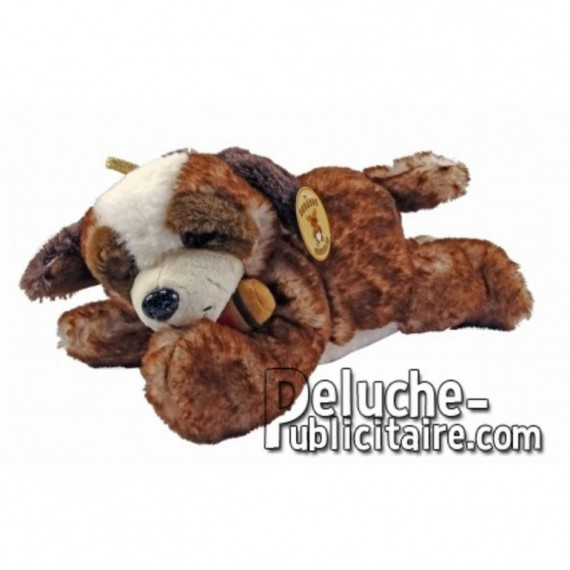 Buy Brown st bernard dog lying down plush 29cm. Personalized Plush Toy.
