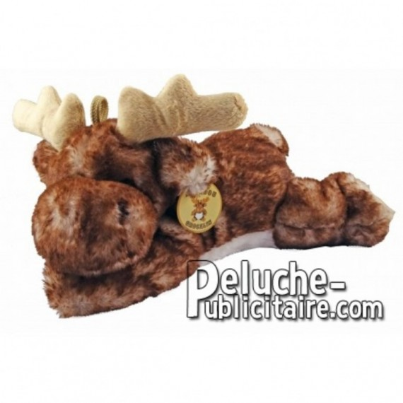 Buy Brown elk reindeer lying plush 29cm. Personalized Plush Toy.