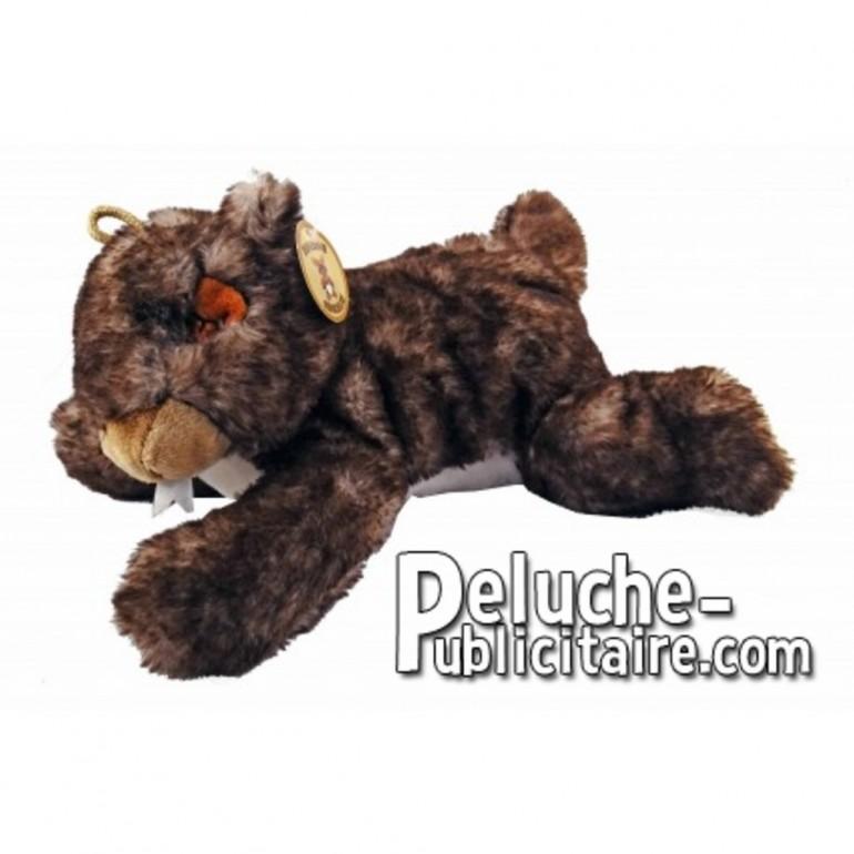 Buy Brown groundhog lying down plush 29cm. Personalized Plush Toy.