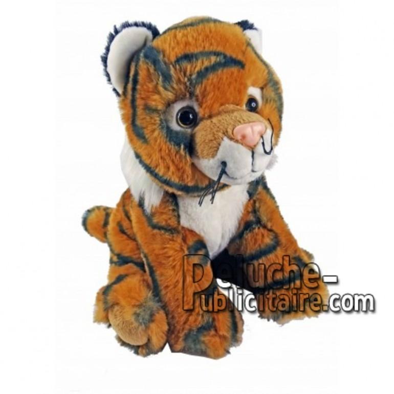 Achat peluche tigre orange 18cm. Peluche personnalisée.