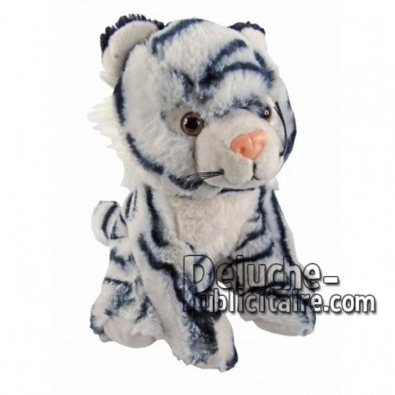 Achat peluche tigre blanc 18cm. Peluche personnalisée.