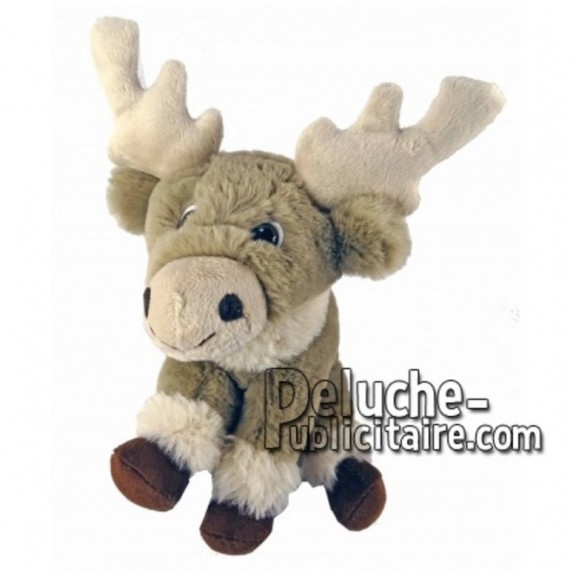 Buy Grey reindeer moose plush 20cm. Personalized Plush Toy.