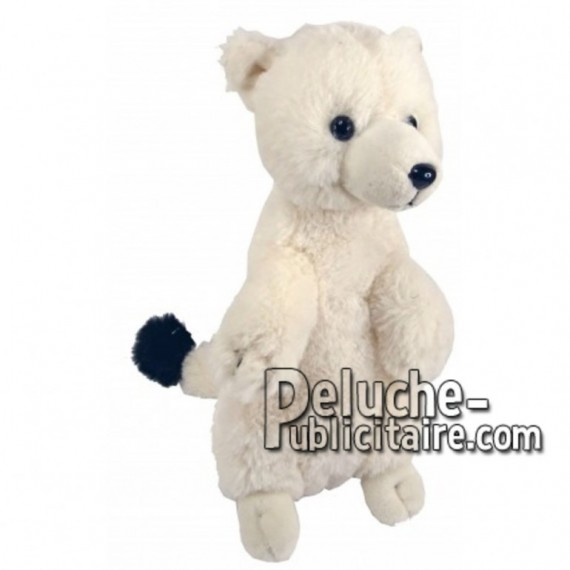 Buy White ermine plush 22cm. Personalized Plush Toy.