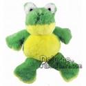 Achat peluche grenouille vert 18cm. Peluche personnalisée.